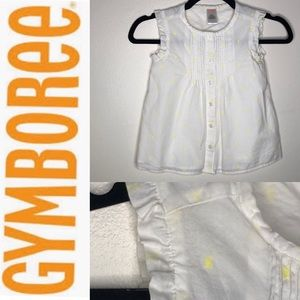 Gymboree EUC Cotton Yellow Ruffle Sleeveless Top